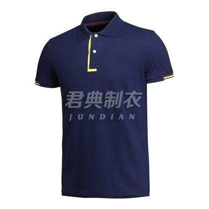 经典撞色门襟设计高档T恤衫