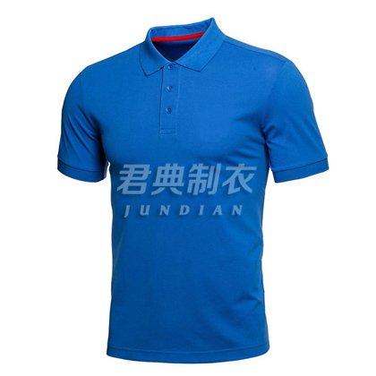 宝蓝色高档棉商务系列polo衫