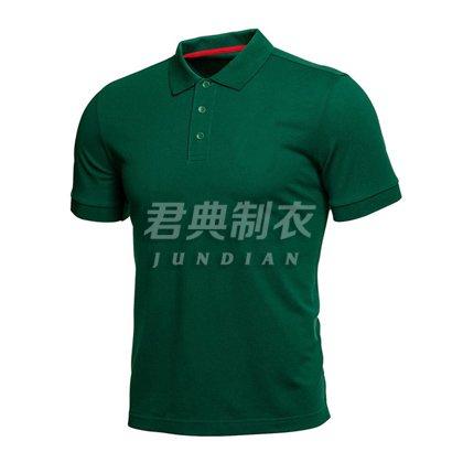 军绿色精品网眼棉polo衫