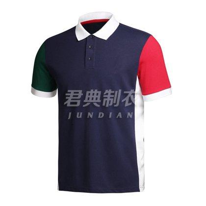 时尚撞色设计企业polo衫
