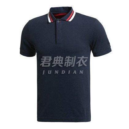 高档商务撞色领边设计polo衫