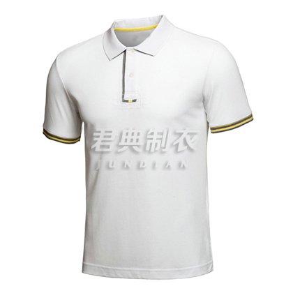白色时尚大气商务系列polo衫