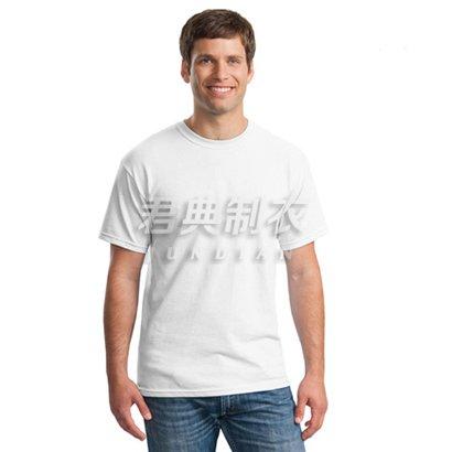经典白色纯棉空白文化衫(可印图案logo)