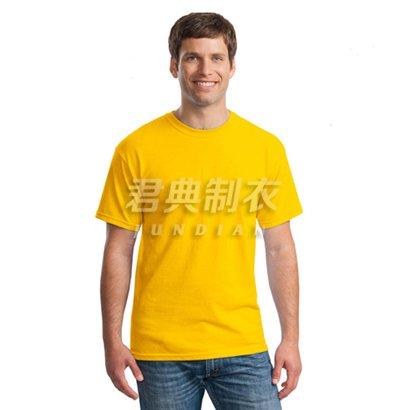 经典大黄色纯棉空白文化衫(可印字logo图案)