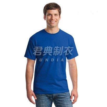 经典宝蓝色纯棉高档文化衫