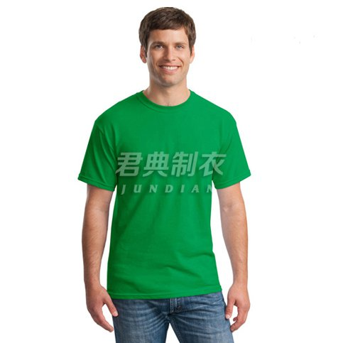 草绿色精品纯棉文化衫