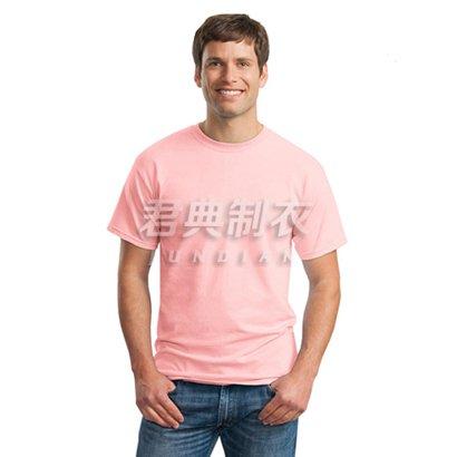 粉红色经典款纯棉文化衫