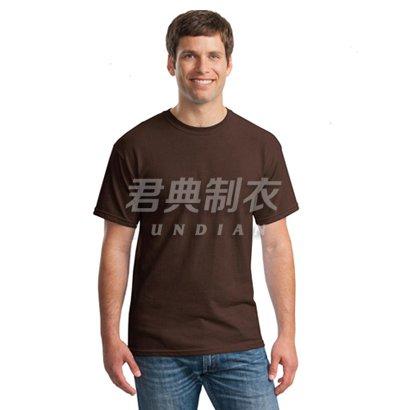 咖啡色经典款纯棉文化衫