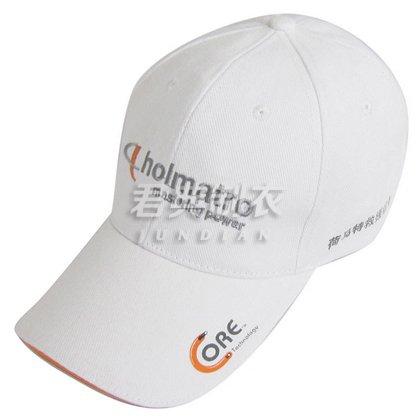 白色精美绣花广告棒球帽