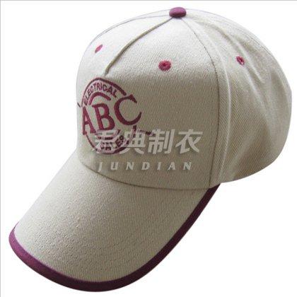 精品刺绣撞色边设计广告棒球帽