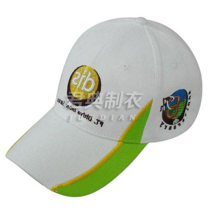 撞色边设计刺绣logo儿童广告帽