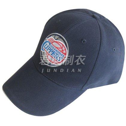 藏蓝色经典绣花棒球帽