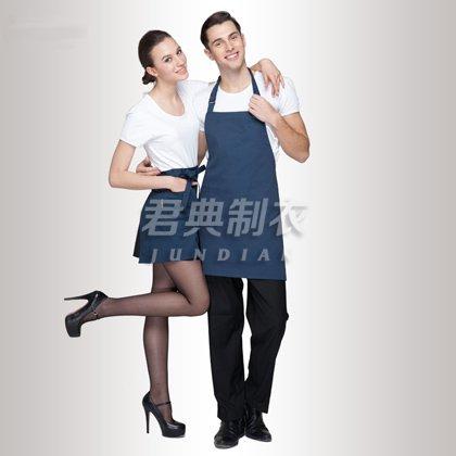 藏蓝色广告宣传活动围裙