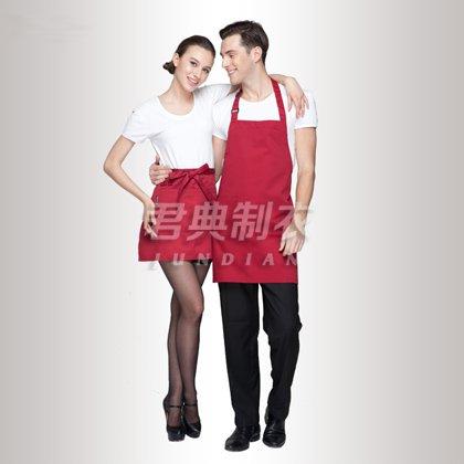 红色棉布经典款工作围裙