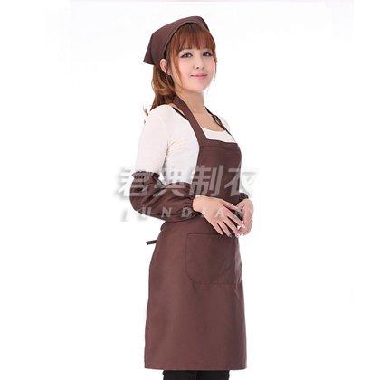 咖啡色经典服务员围裙