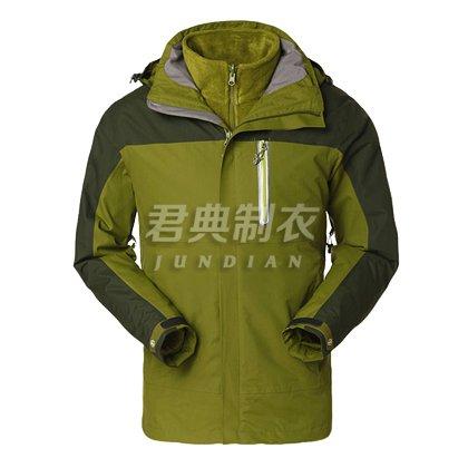 军绿色户外冲锋衣两件套