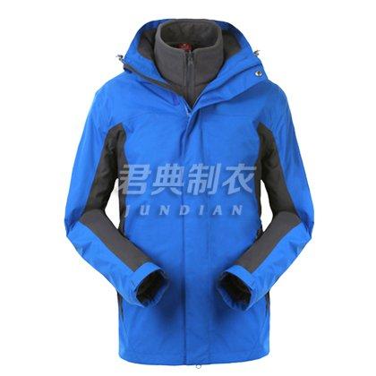 蓝色经典款户外两件套冲锋衣