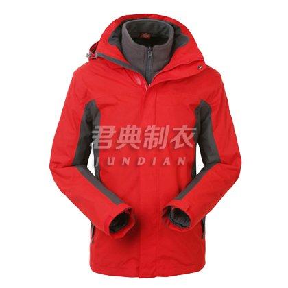 经典红灰配色户外冲锋衣