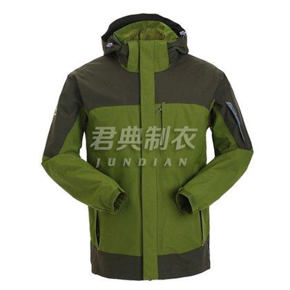 户外冲锋衣两件套团体定制