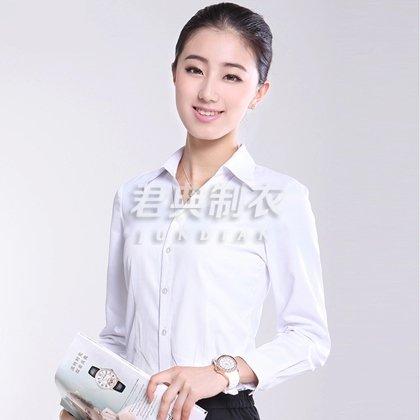 经典白色职业装衬衫定制