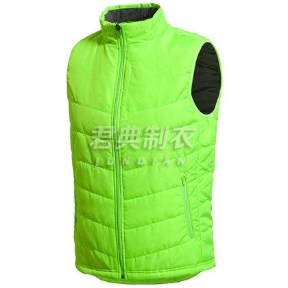 荧光绿新款广告促销棉马甲