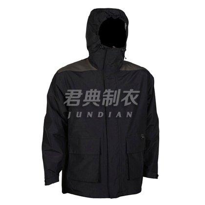 黑色经典工装防寒服团体定制