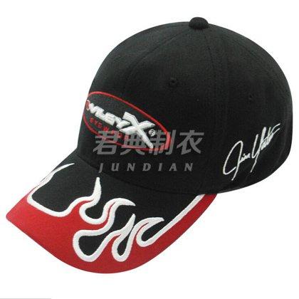 高档黑色刺绣棒球帽