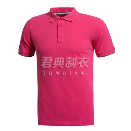 新款纯色系高档POLO衫
