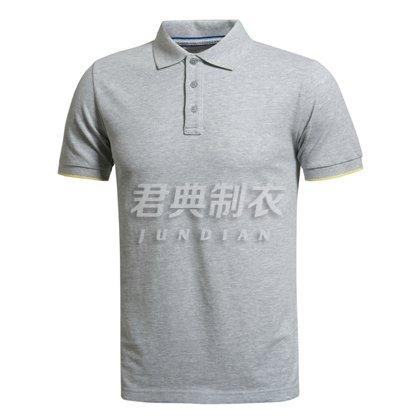 经典麻灰色高档POLO衫定制