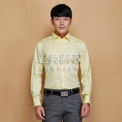 新款男士长袖职业衬衫定制
