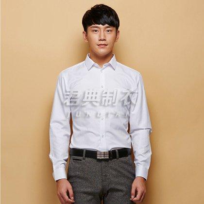 高档男士长袖白衬衫定制