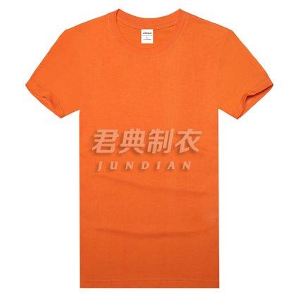 橘色高档精梳棉T恤