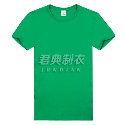 草绿色高档精梳棉T恤
