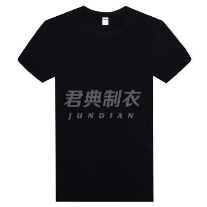 精品高密莱卡棉T恤黑色款