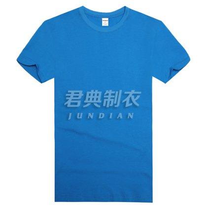 精品高密莱卡棉T恤蓝色款