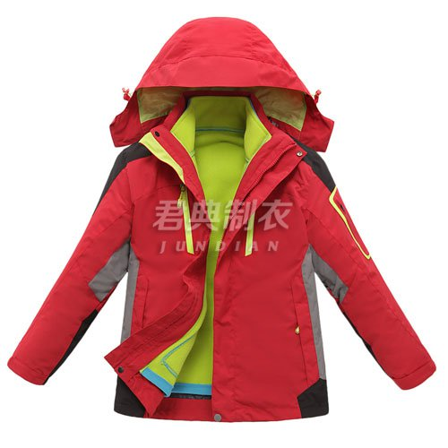 新款儿童户外三合一冲锋衣