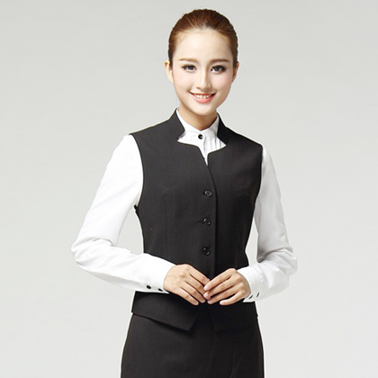 女士职业装衬衫马甲套装定制