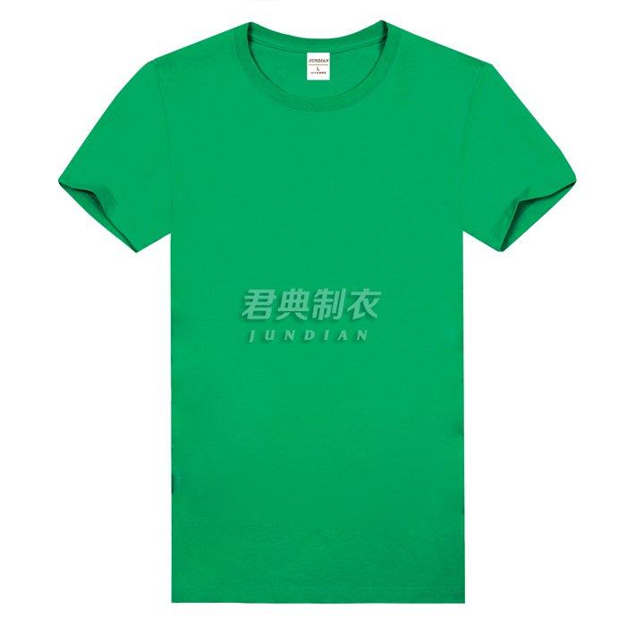 草绿色精梳棉文化衫